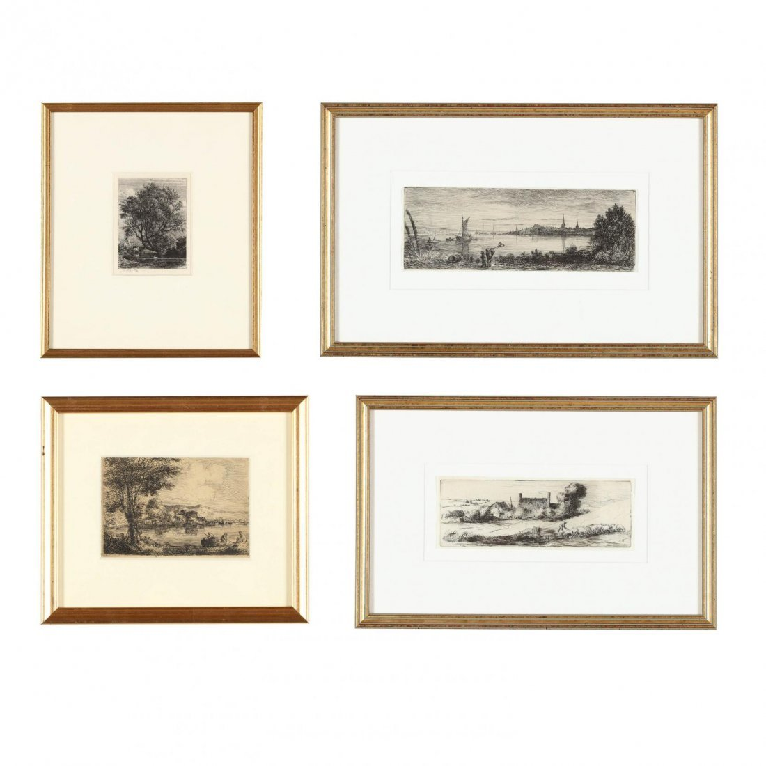 Group of (4) 19th-Century English Etchings