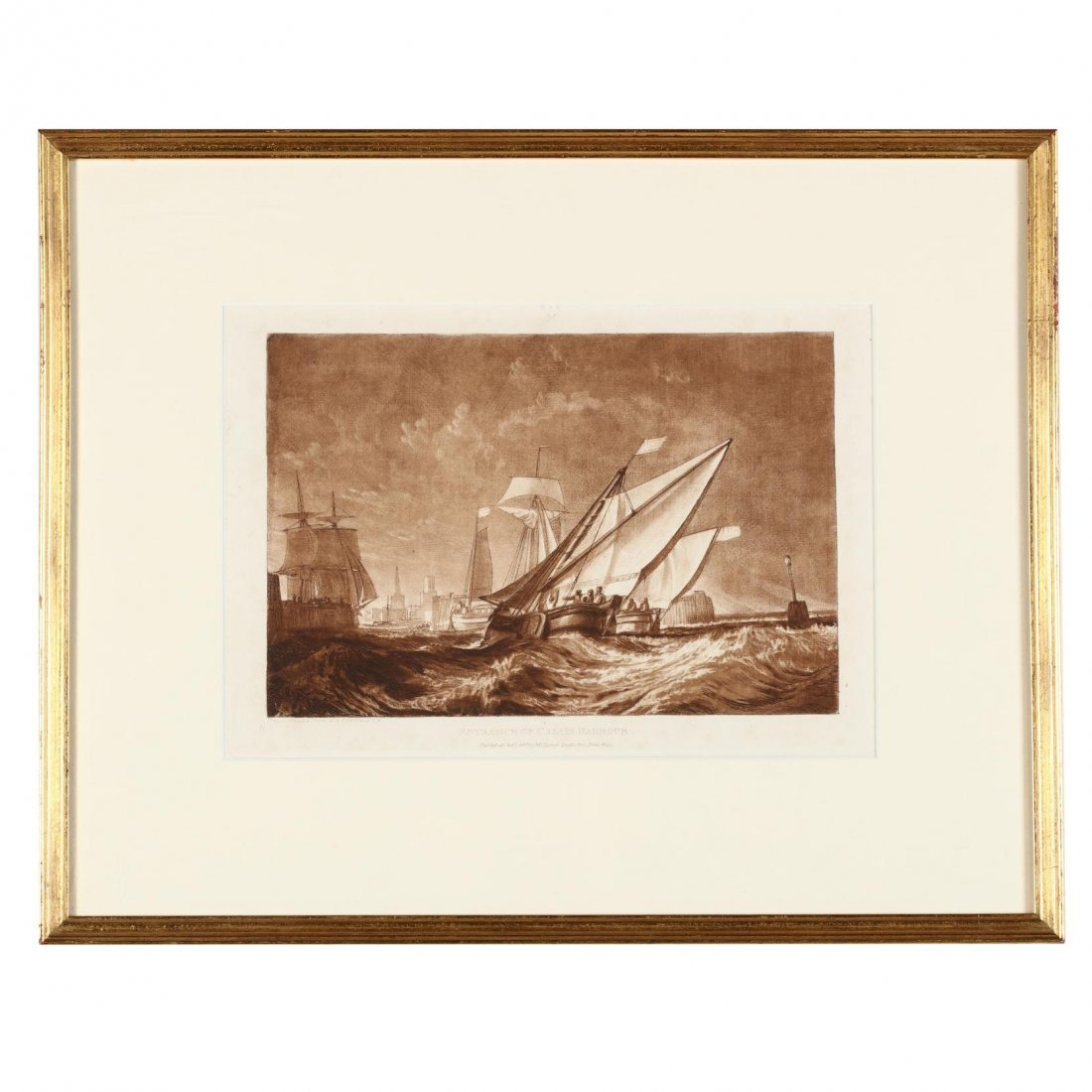 Two Antique Prints Picturing Sailing Vessels - Turner - 2