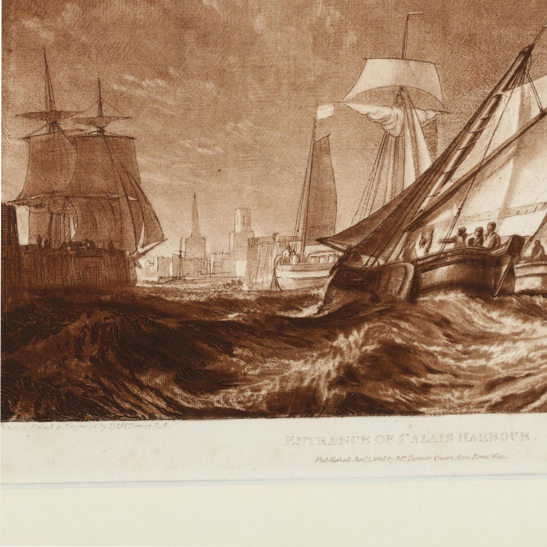 Two Antique Prints Picturing Sailing Vessels - Turner - 3