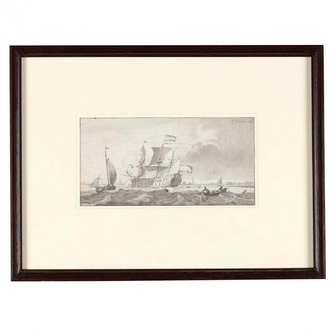 Two Antique Prints Picturing Sailing Vessels - Turner - 4