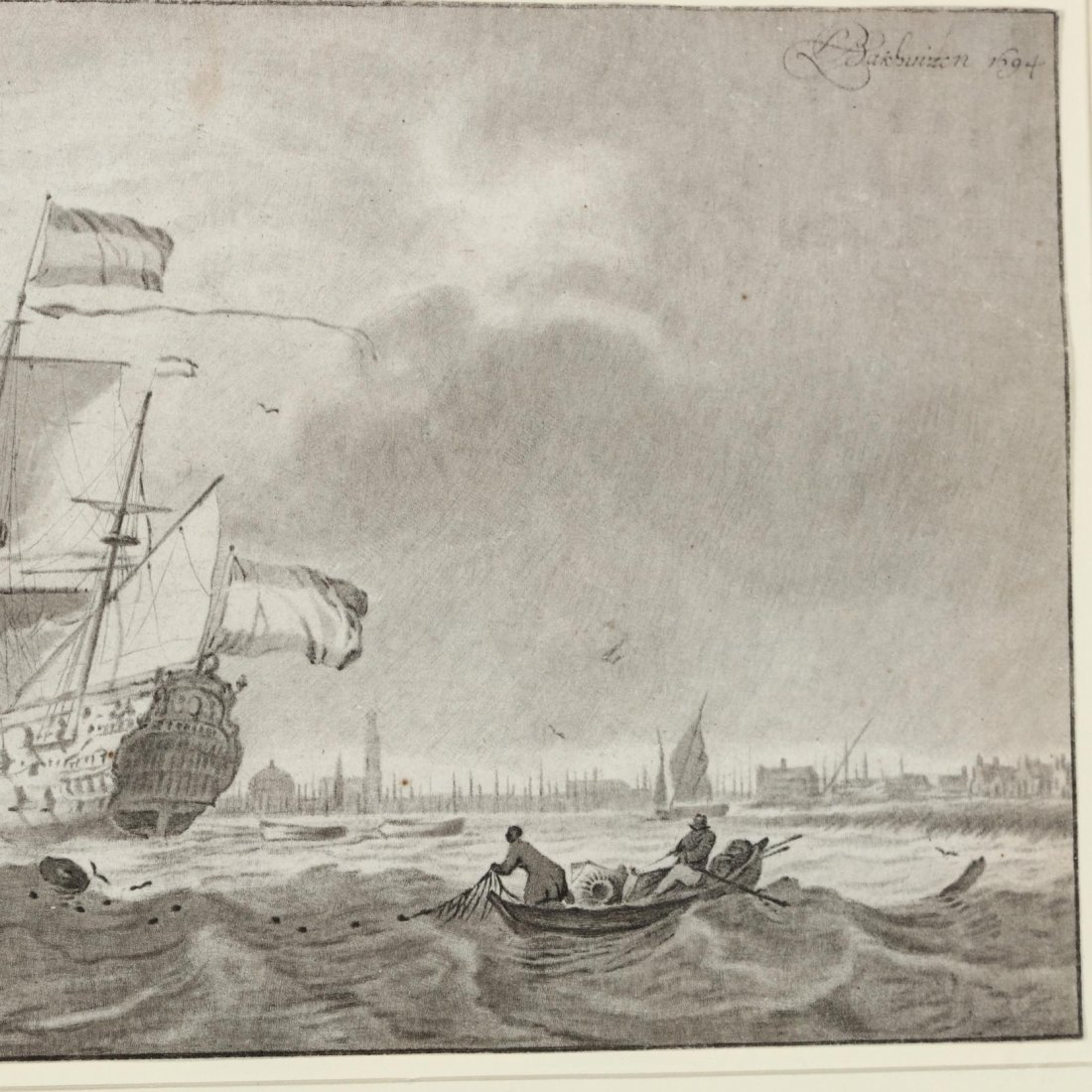 Two Antique Prints Picturing Sailing Vessels - Turner - 5