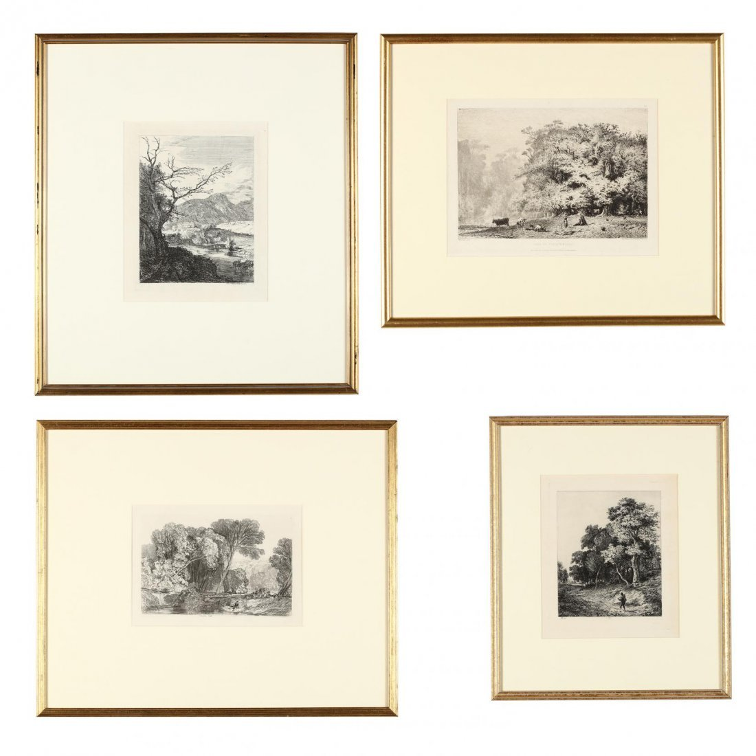 Group of (4) French and English Landscapes