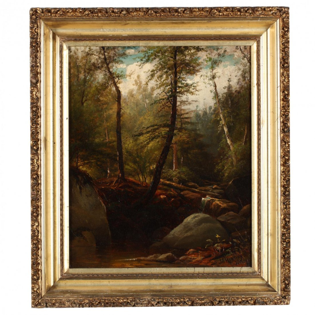 Joseph Antonio Hekking (NY/CT, 1830-1903), Forest
