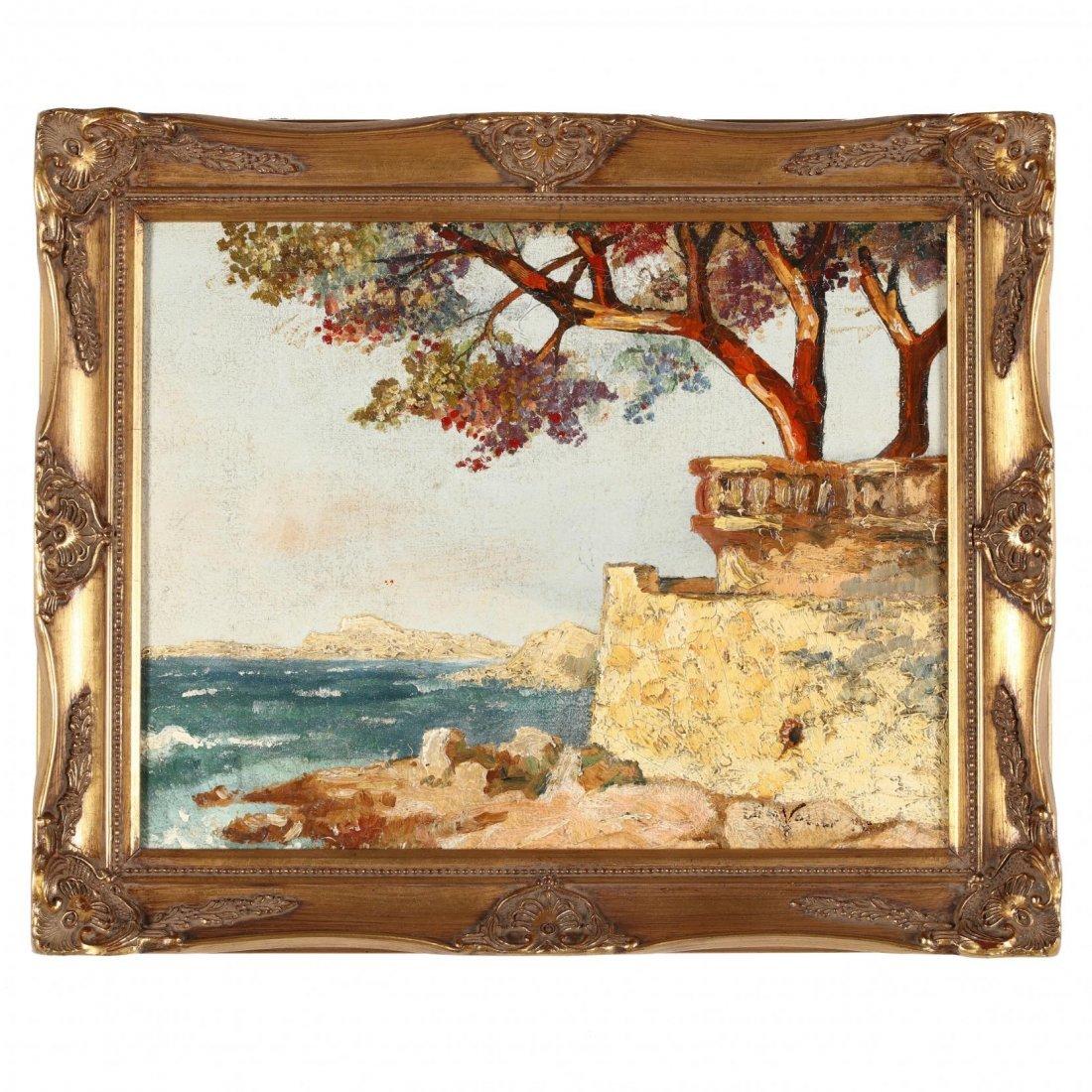Elihu Vedder (NY/Italy, 1836-1923), Italian Coast
