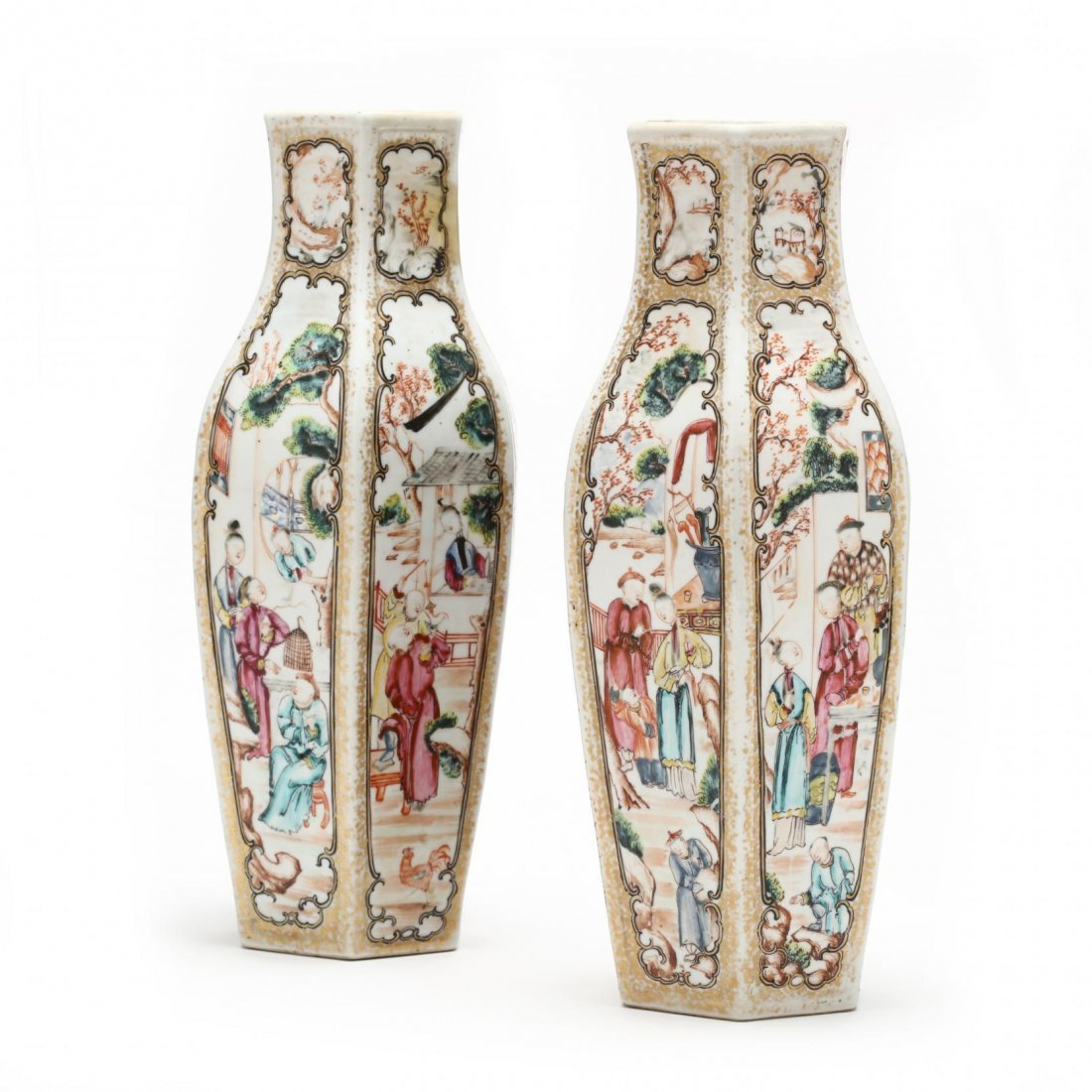 Pair of Chinese Export Vases