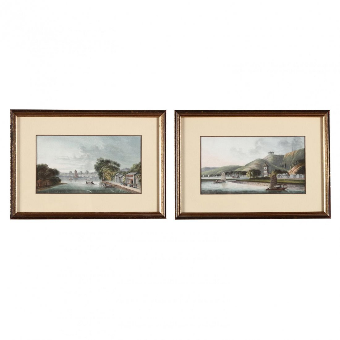 Pair of Chinese Trade Paintings