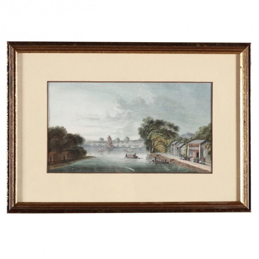 Pair of Chinese Trade Paintings - 2