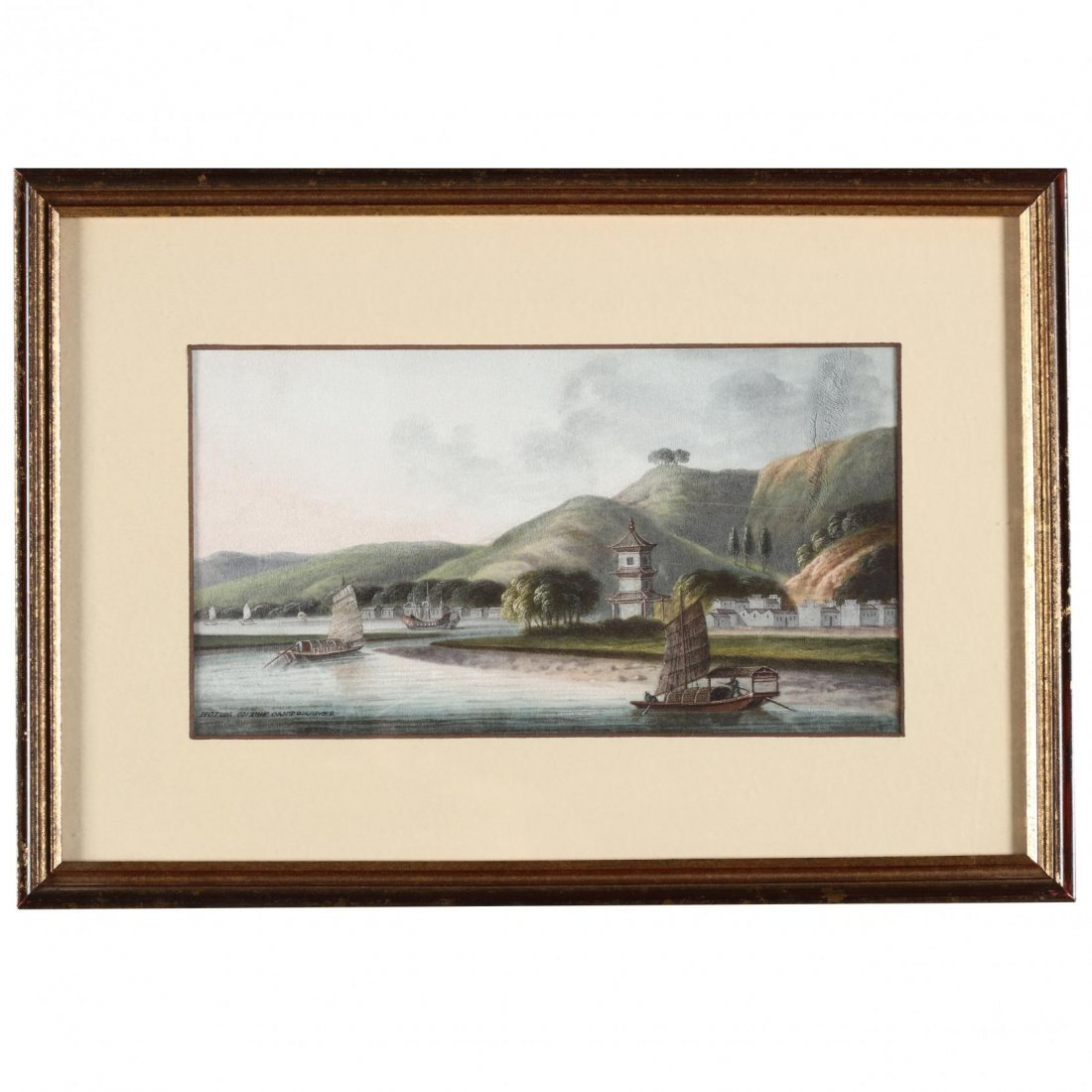 Pair of Chinese Trade Paintings - 4