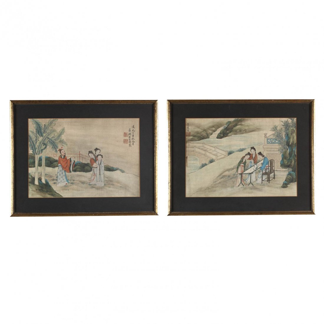Two Paintings by Jiang Lian (Chinese, 18th-19th