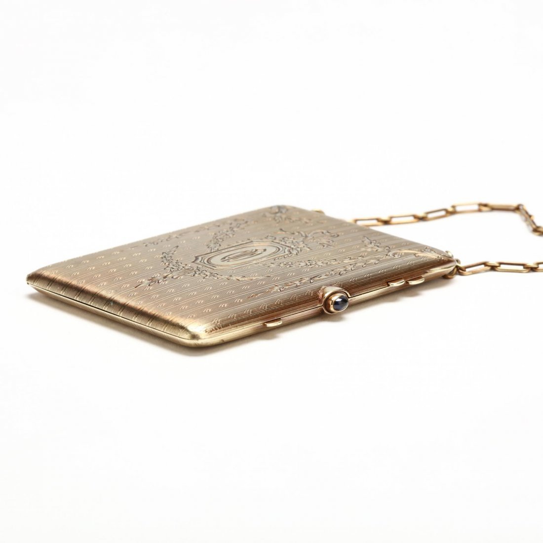 Edwardian 14KT Compact with Chain and Ring, Tiffany & - 2
