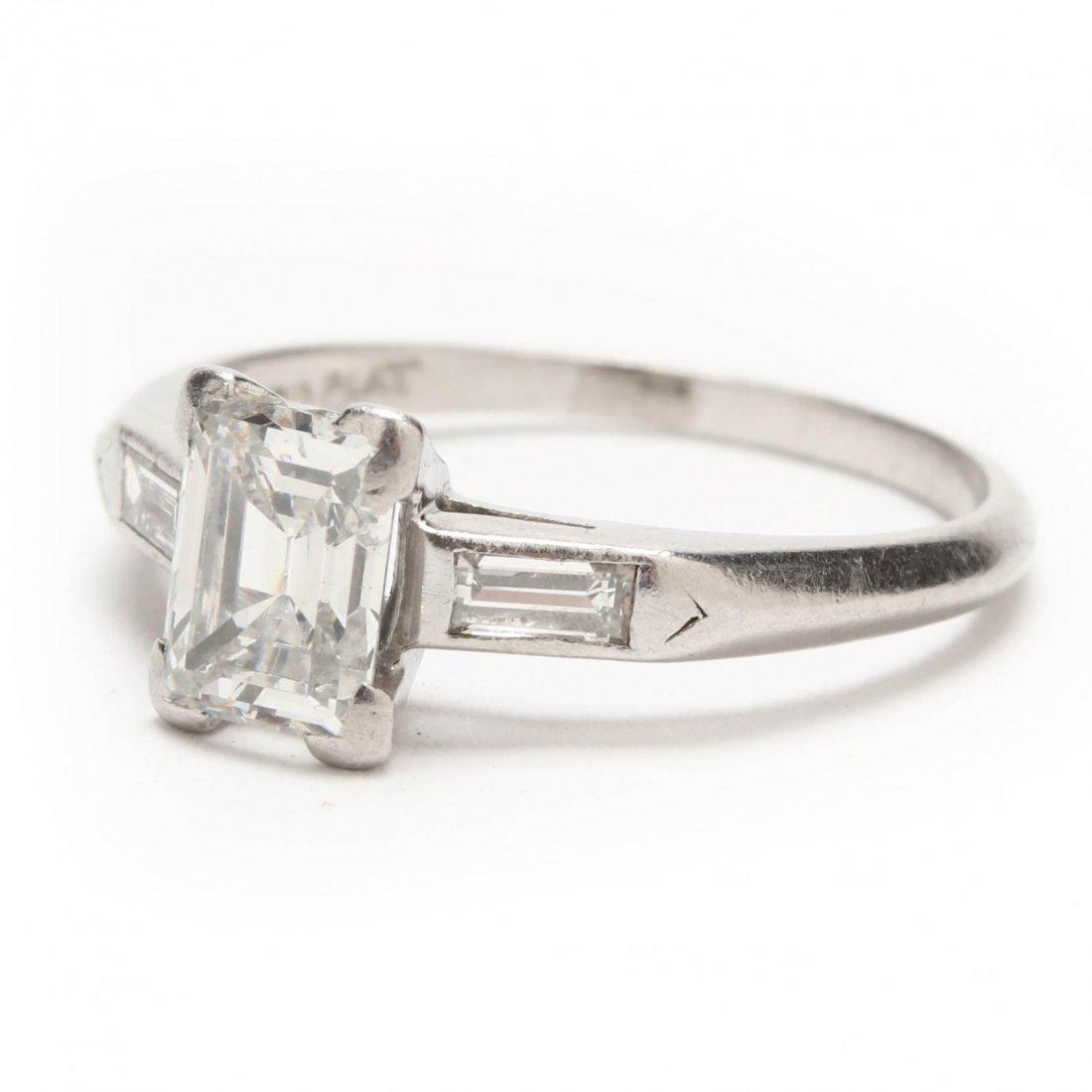 Platinum and Diamond Ring - 10