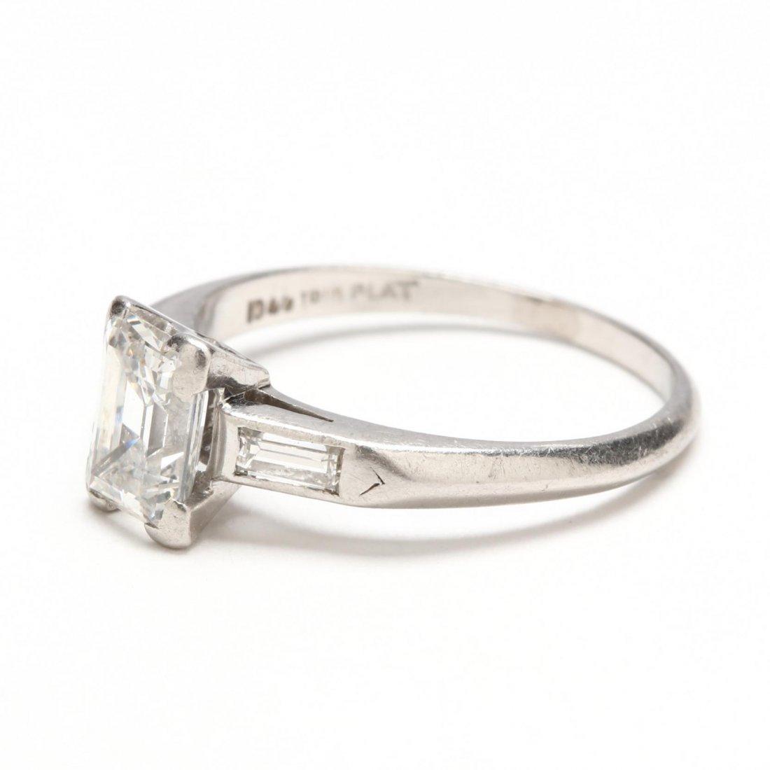 Platinum and Diamond Ring - 4