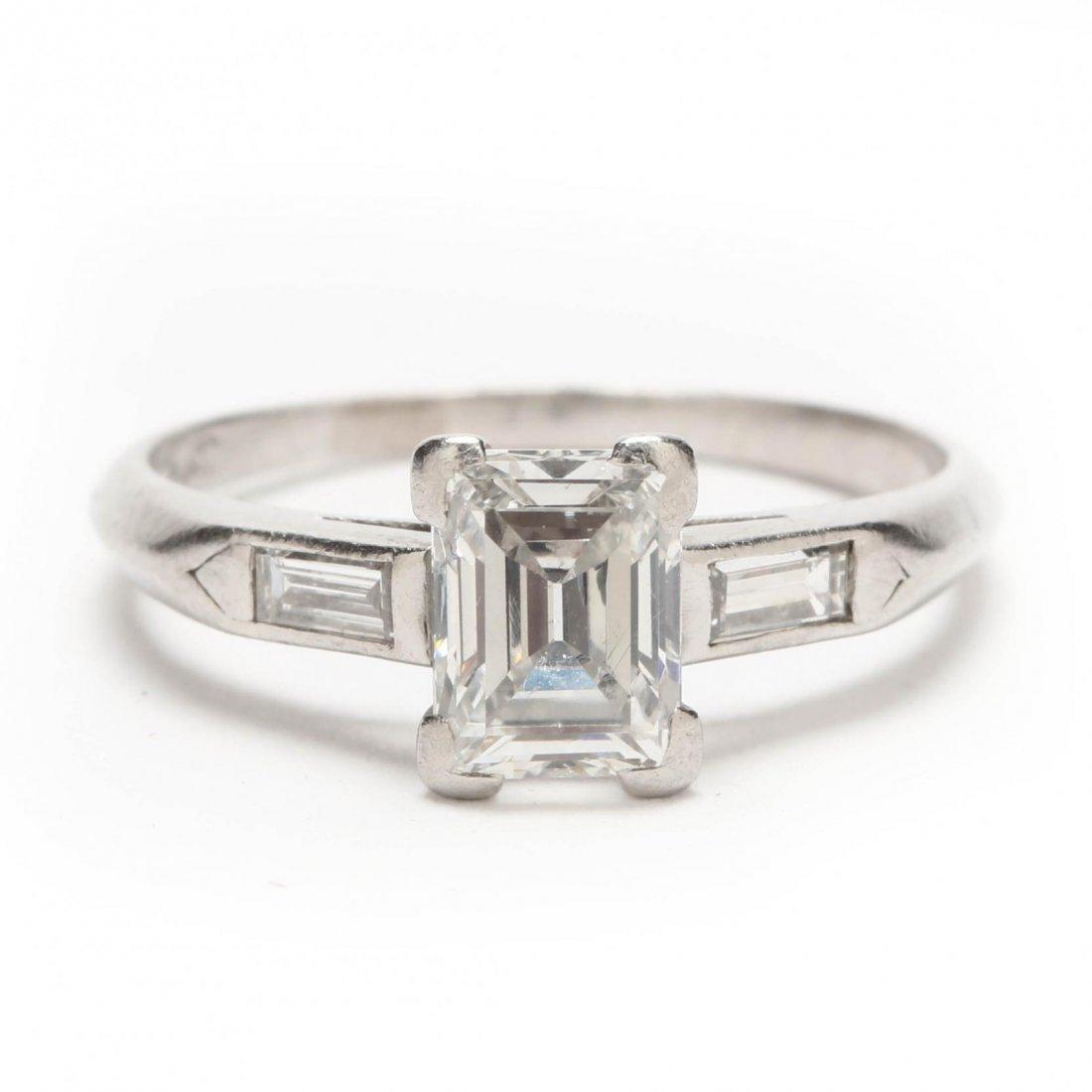 Platinum and Diamond Ring - 7