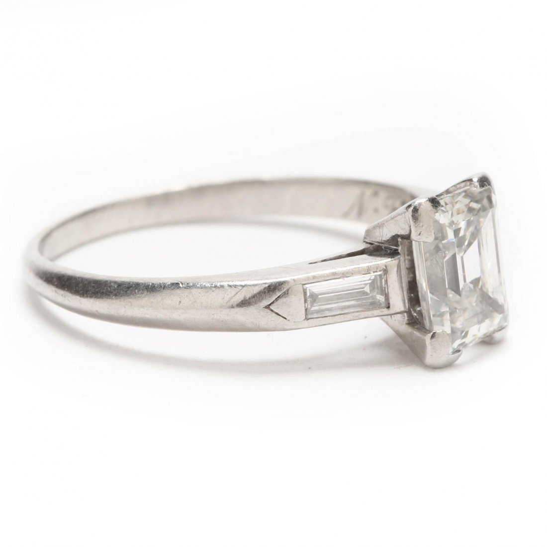 Platinum and Diamond Ring - 8