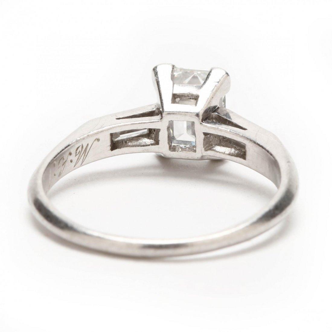 Platinum and Diamond Ring - 9
