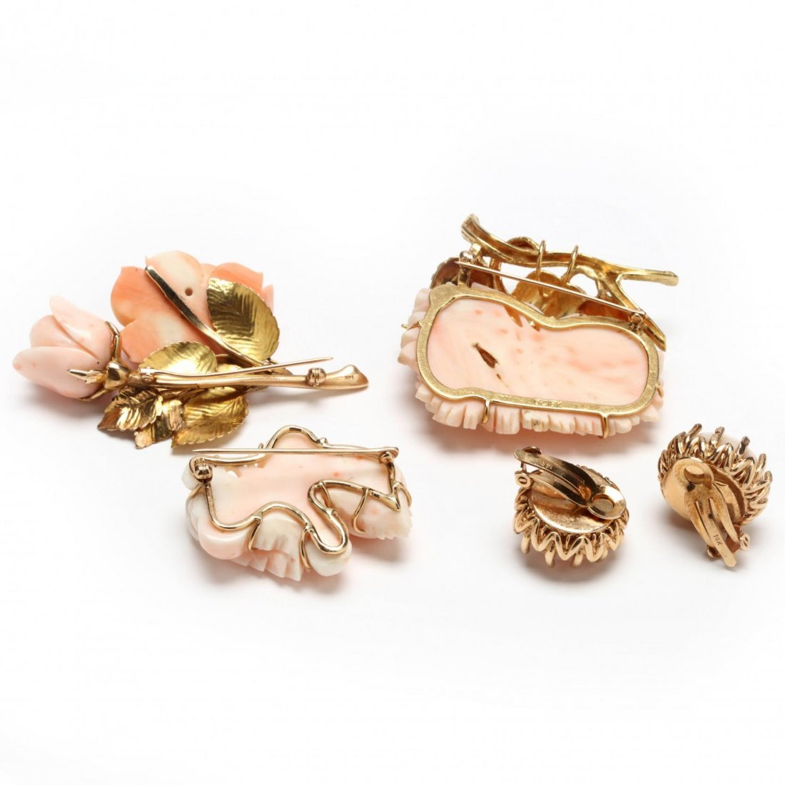 A Collection of Angel Skin Coral Jewelry - 2
