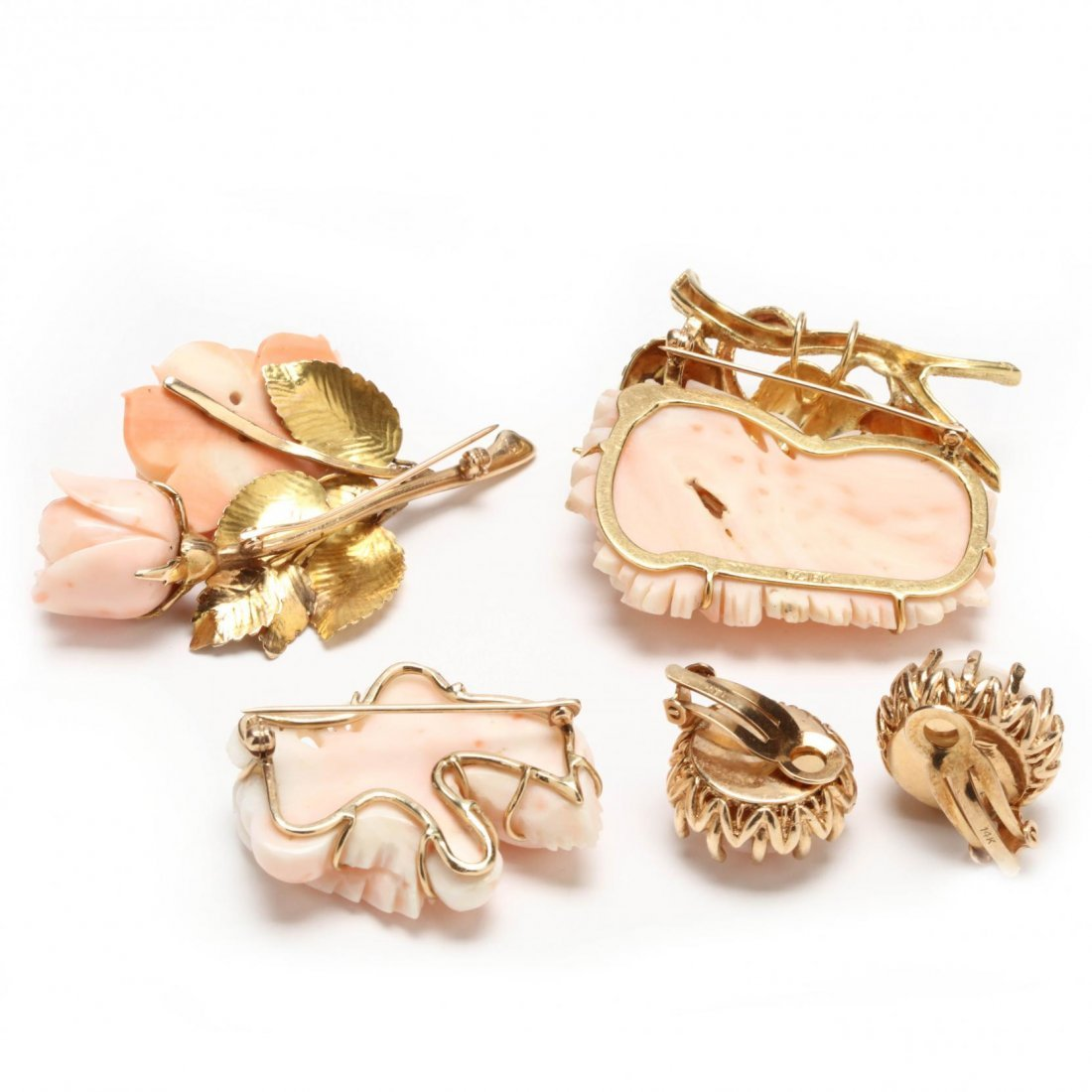 A Collection of Angel Skin Coral Jewelry - 5