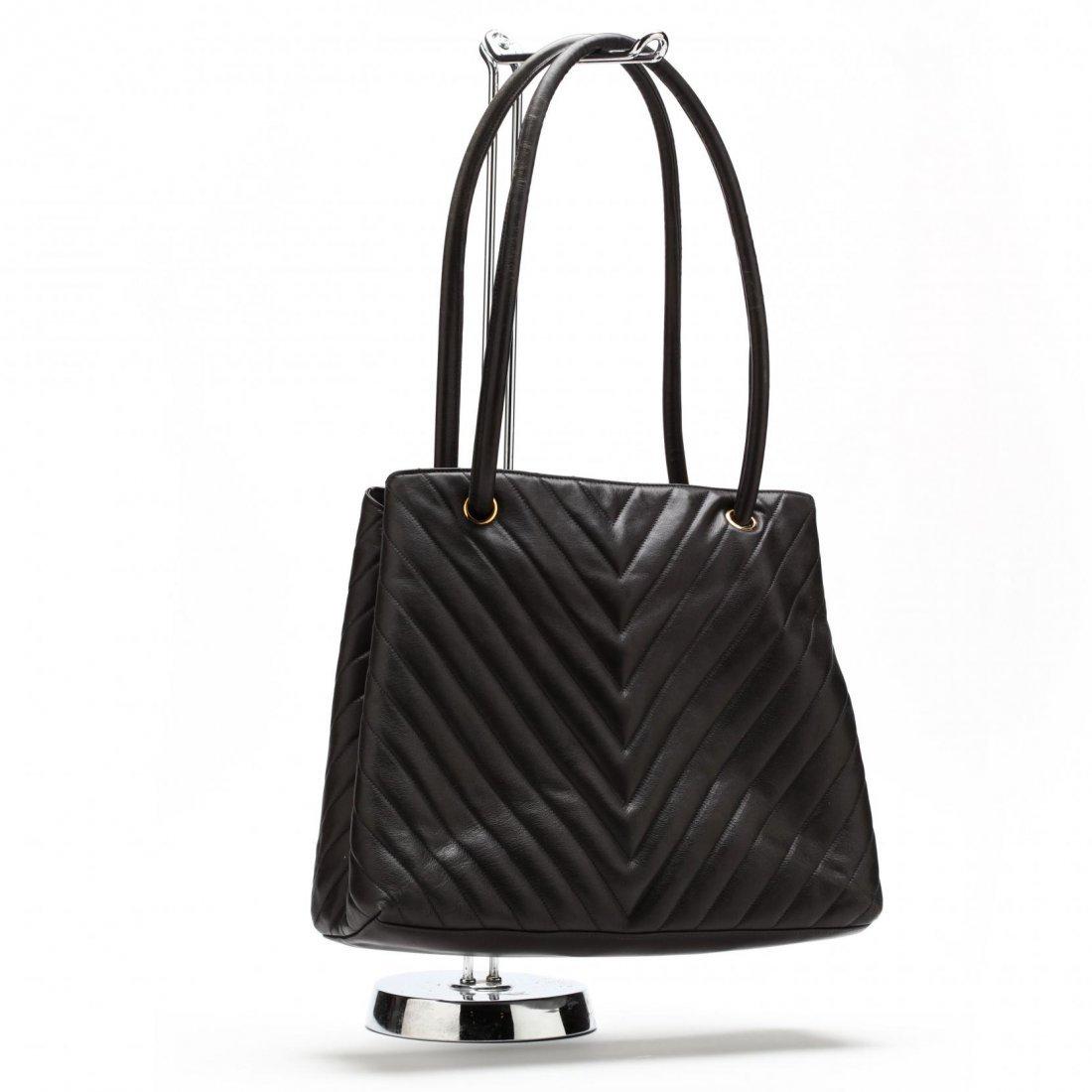 Vintage Lambskin Chevron Handbag, Chanel - 2