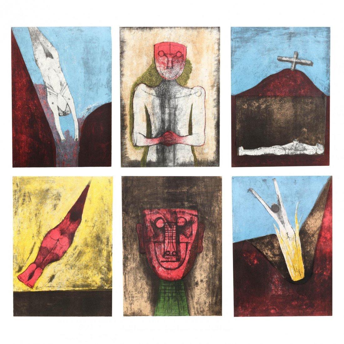 Rufino Tamayo (Mexican, 1899-1991),  Los Signos Existen