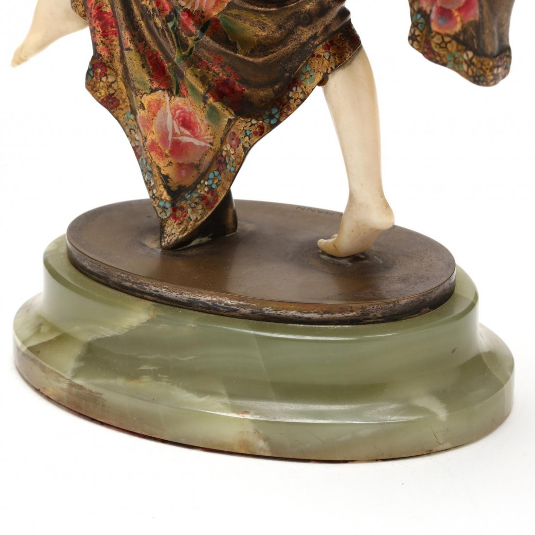 A Theodore Ullmann Cold-Painted Bronze & Ivory Dancer - 3