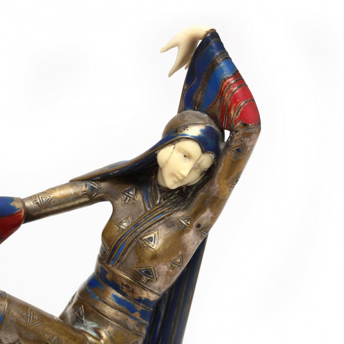 A Gerdago Cold-Painted Bronze & Ivory Dancer - 2