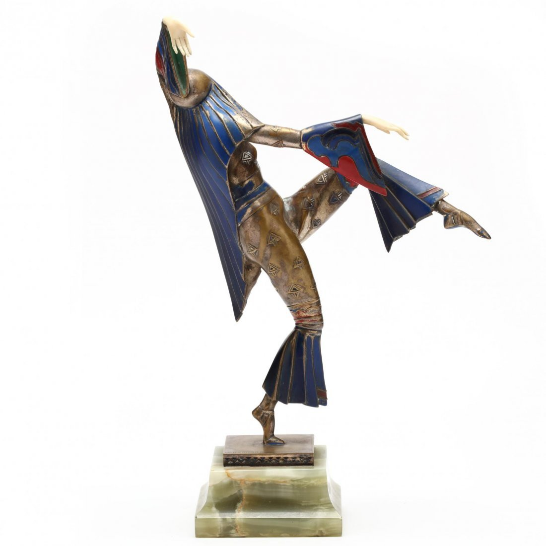 A Gerdago Cold-Painted Bronze & Ivory Dancer - 3