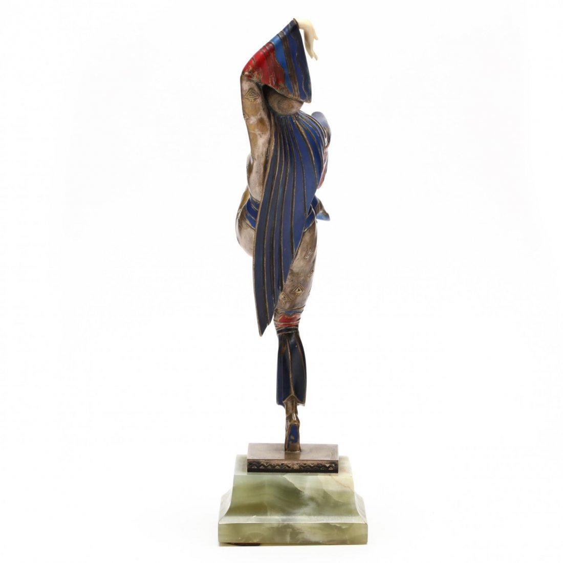 A Gerdago Cold-Painted Bronze & Ivory Dancer - 5