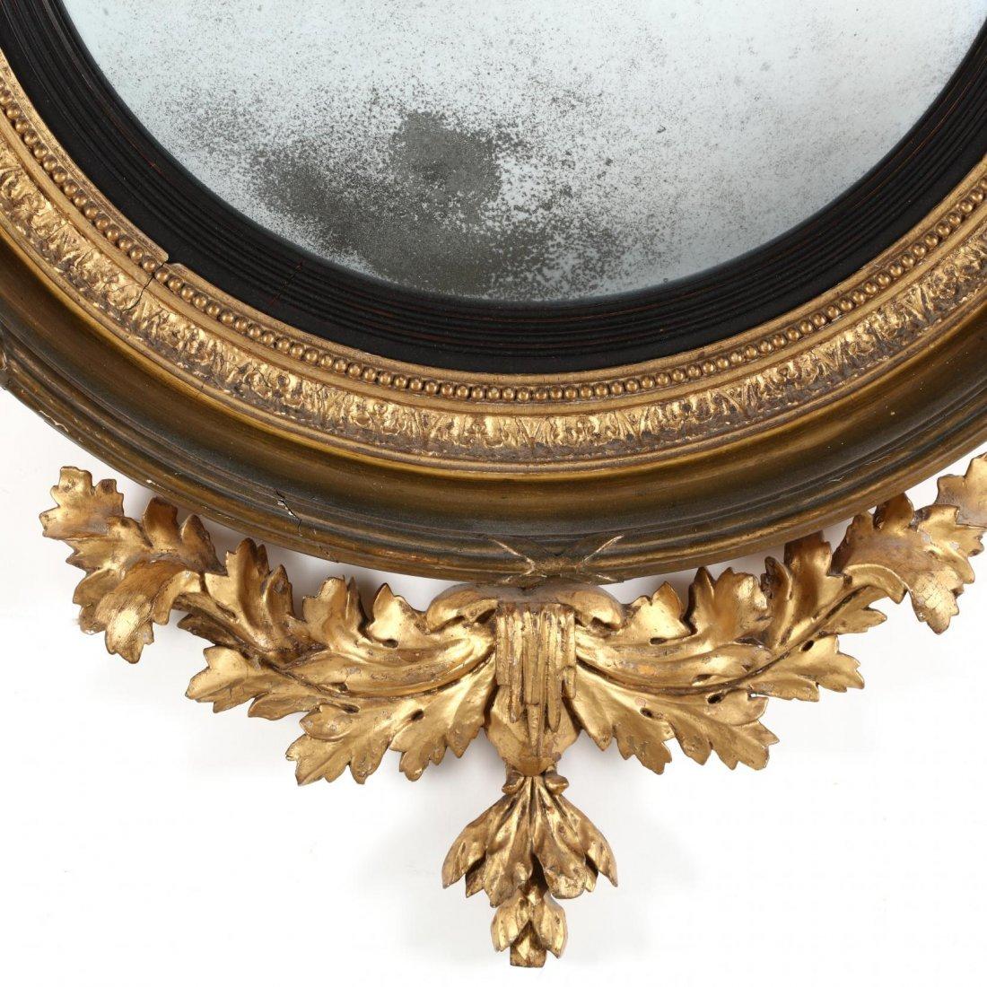 A Regency Carved and Gilded Bullseye Mirror - 2