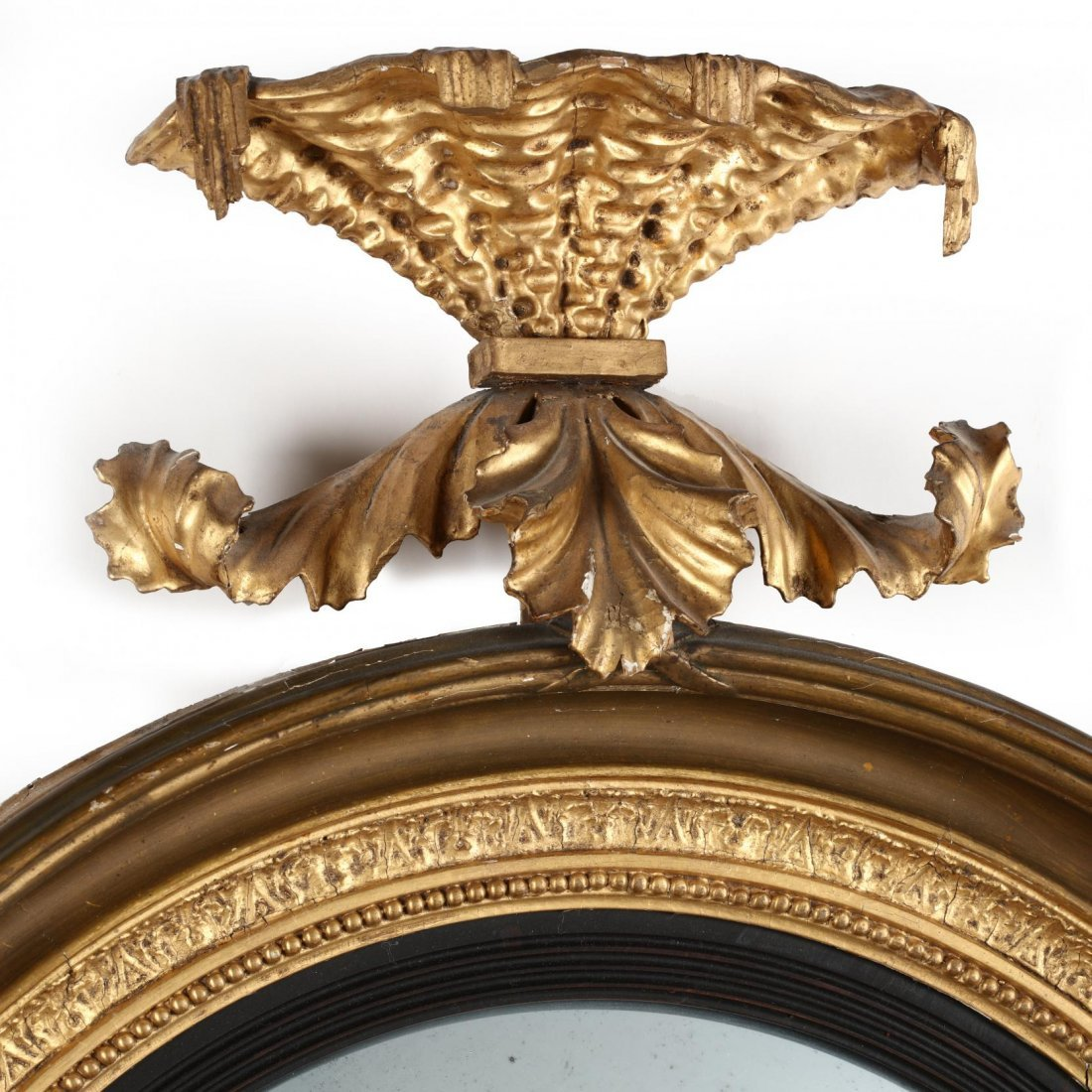 A Regency Carved and Gilded Bullseye Mirror - 3