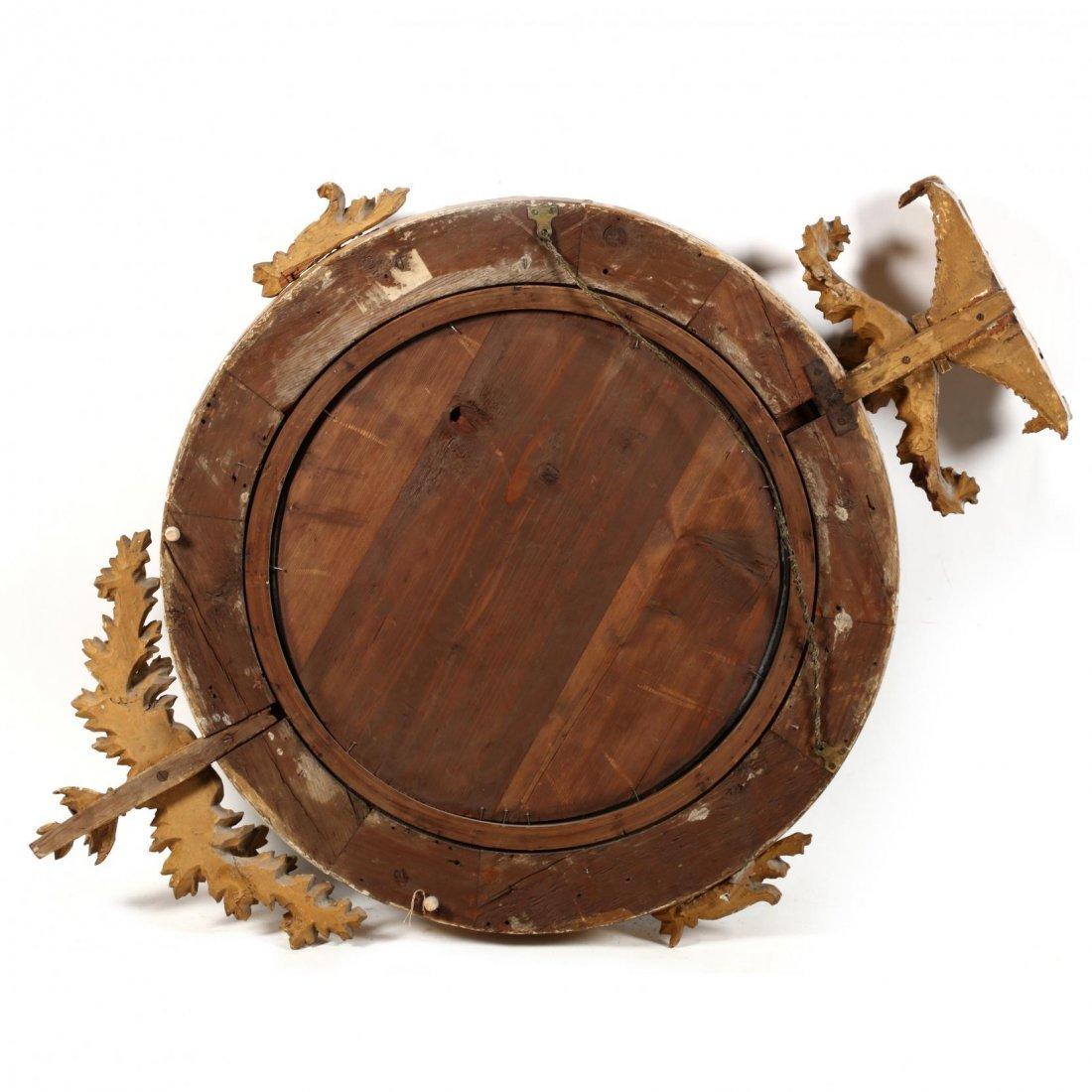 A Regency Carved and Gilded Bullseye Mirror - 4