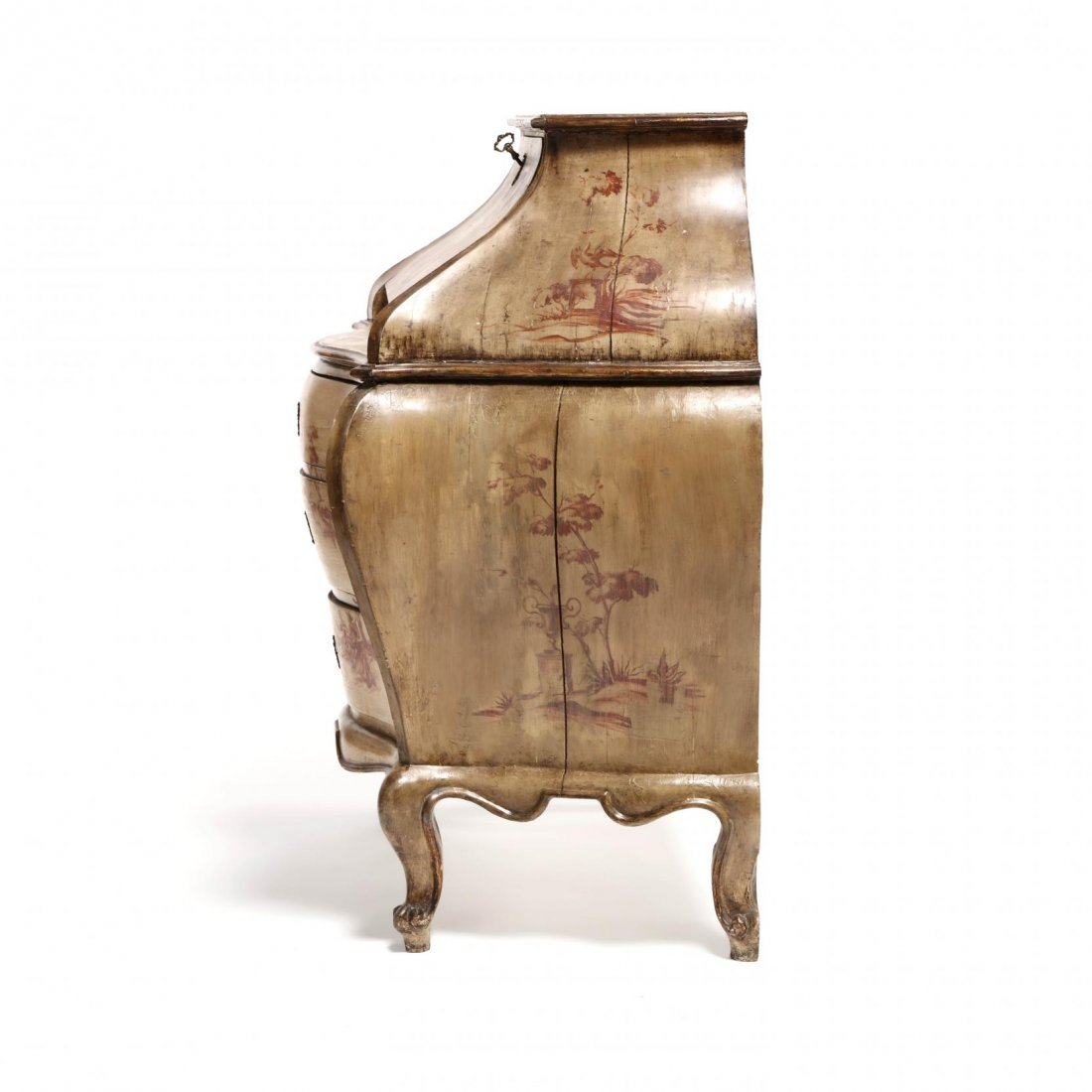 Italianate Polychrome Decorated Bombe Commode - 8