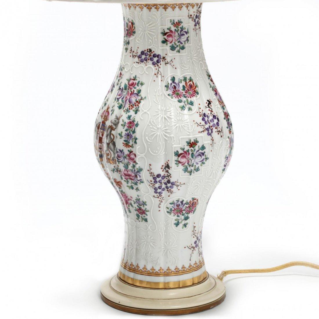 Pair of Samson Porcelain Armorial Table Lamps - 3
