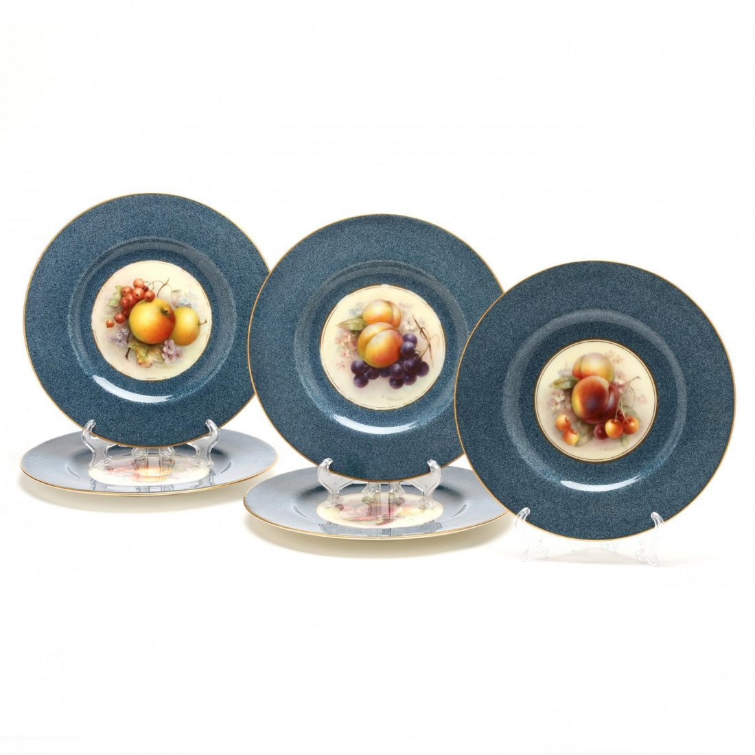 Set of Eleven Royal Worcester Fruit Plates, Richard - 3