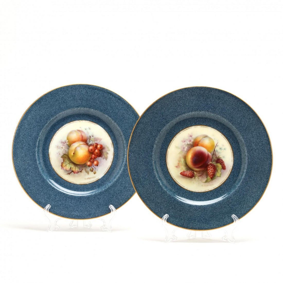 Set of Eleven Royal Worcester Fruit Plates, Richard - 4