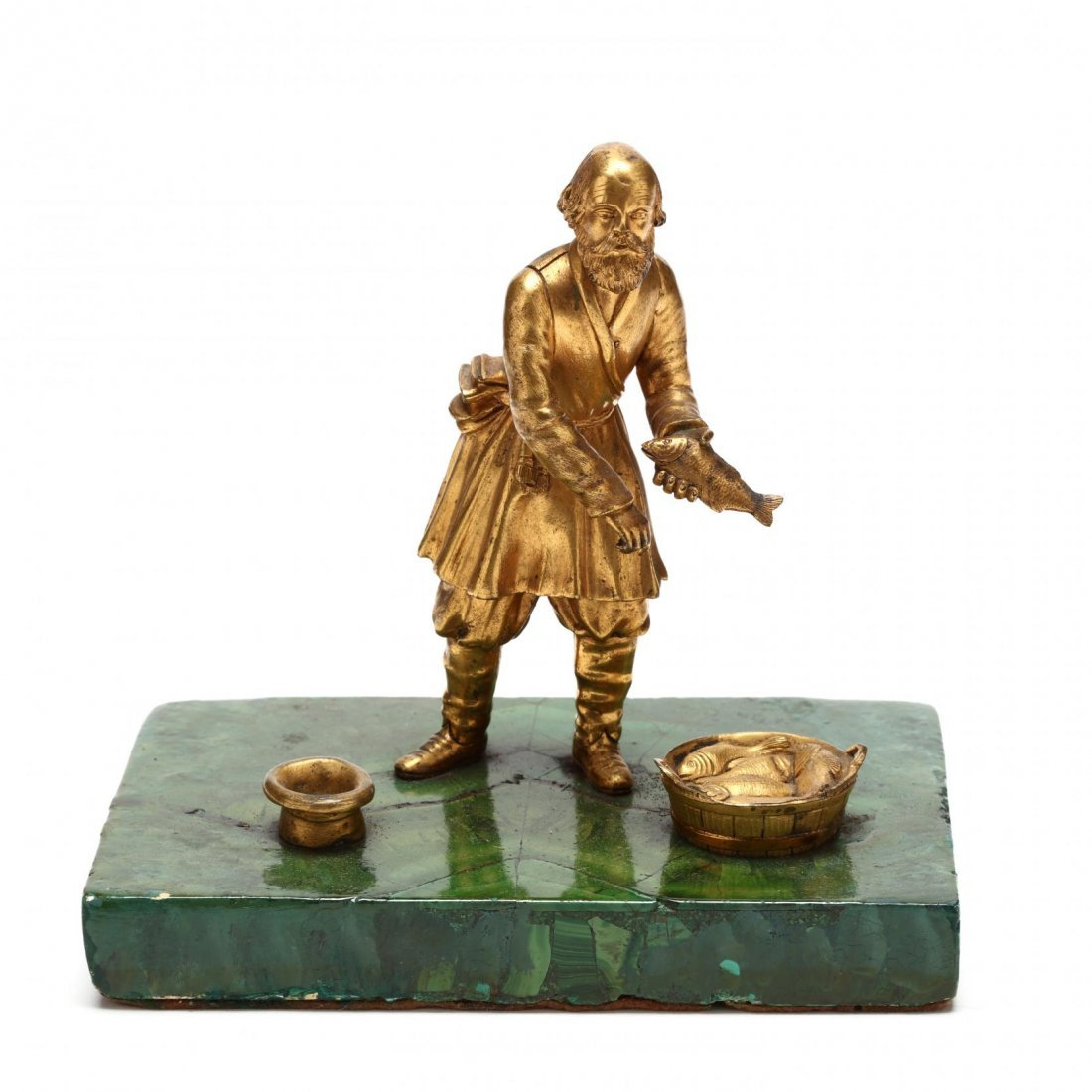 Group of Three Antique Russian Gilt Bronze Figures - 2