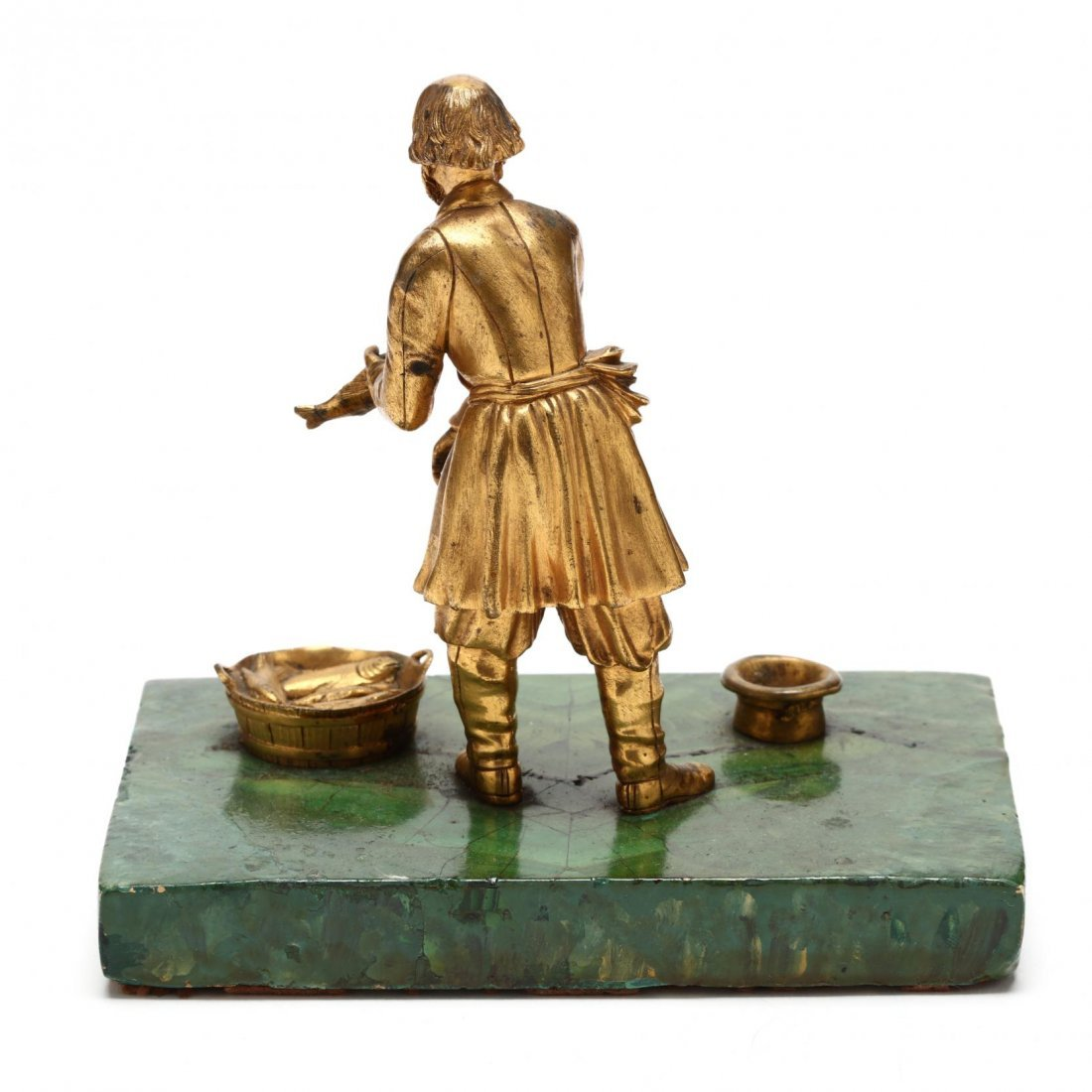 Group of Three Antique Russian Gilt Bronze Figures - 3