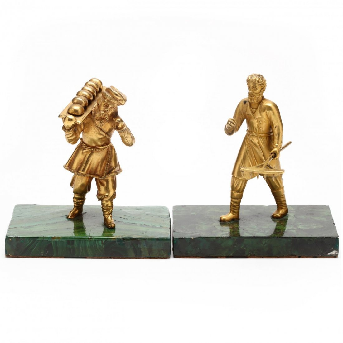 Group of Three Antique Russian Gilt Bronze Figures - 4