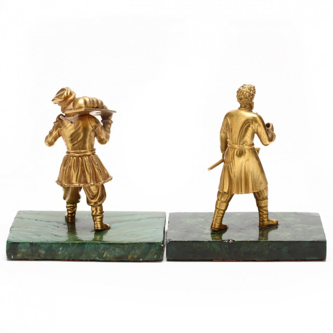Group of Three Antique Russian Gilt Bronze Figures - 5