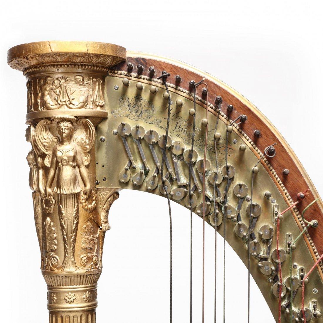 Regency Parcel Gilt Harp by Sebastian Erard - 10