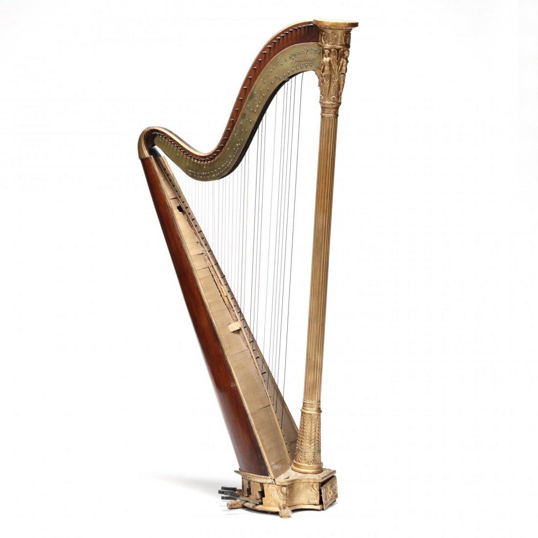 Regency Parcel Gilt Harp by Sebastian Erard