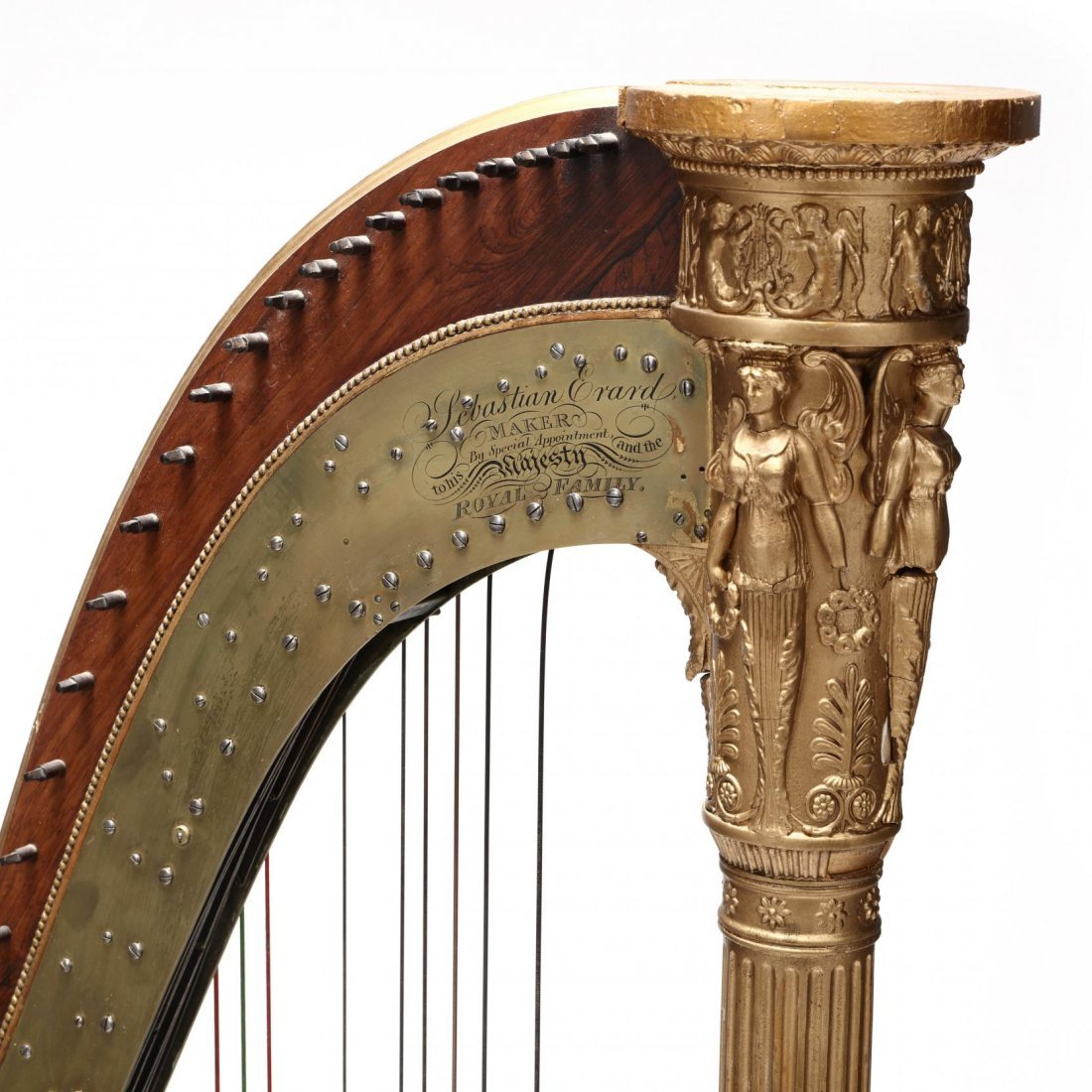 Regency Parcel Gilt Harp by Sebastian Erard - 2