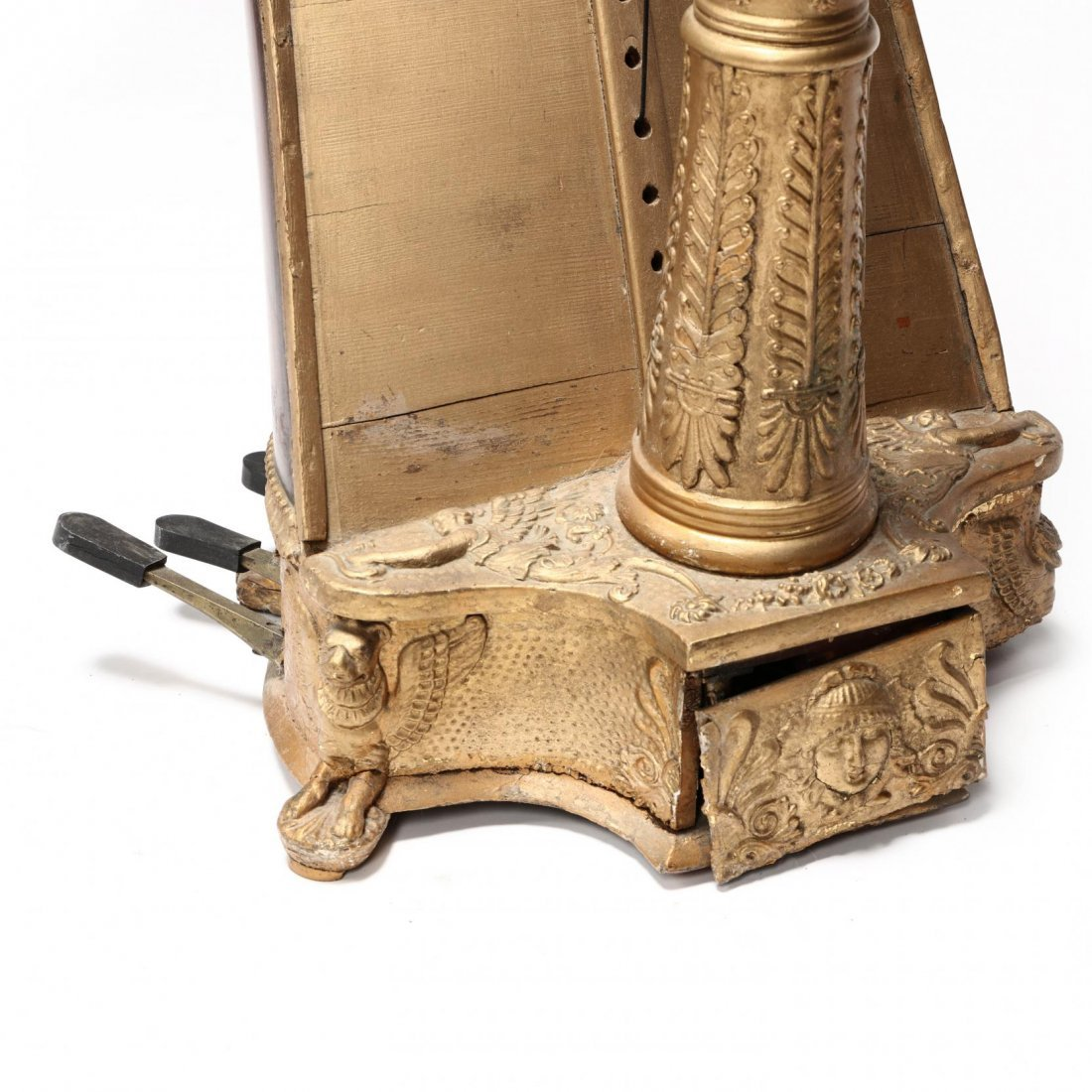 Regency Parcel Gilt Harp by Sebastian Erard - 3