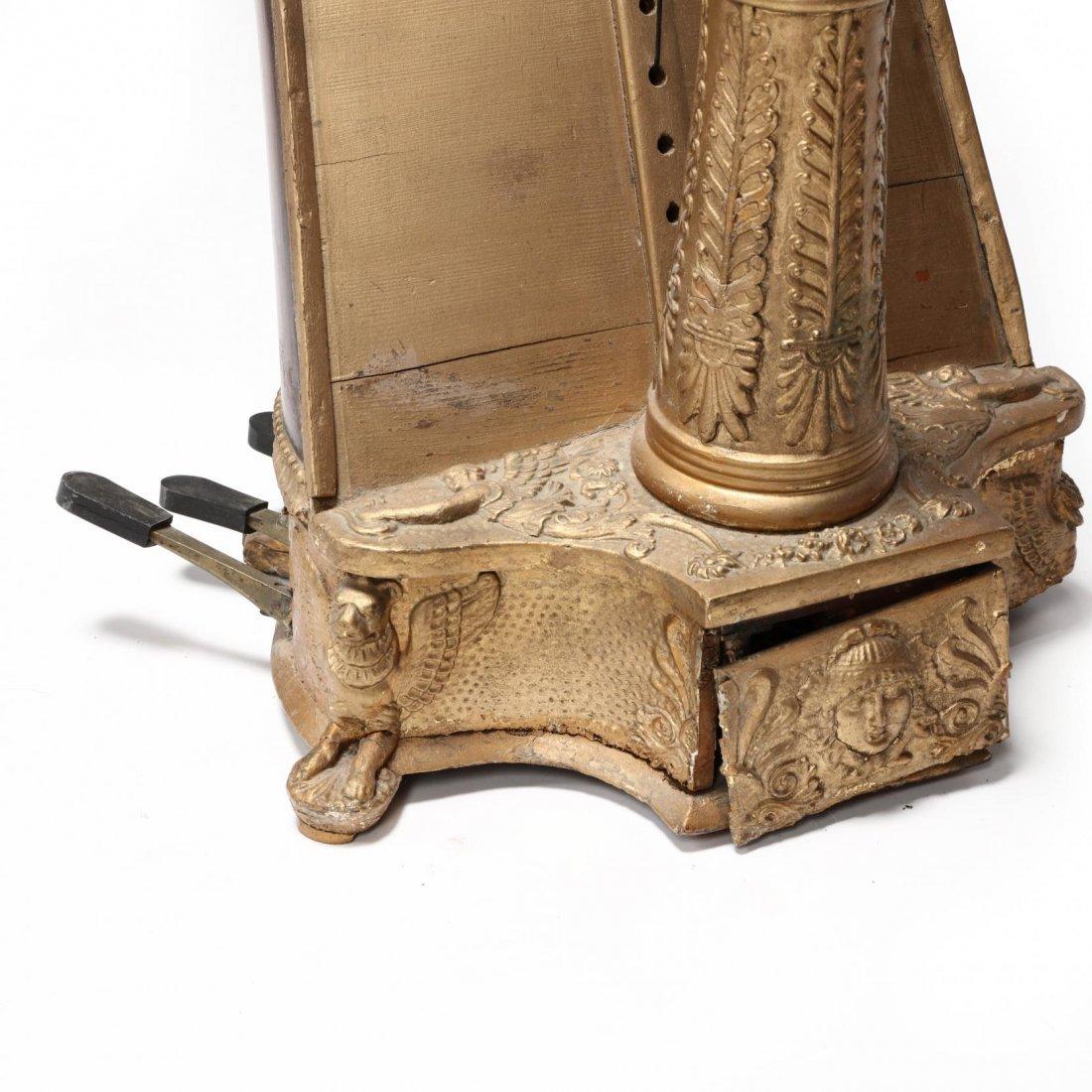 Regency Parcel Gilt Harp by Sebastian Erard - 4