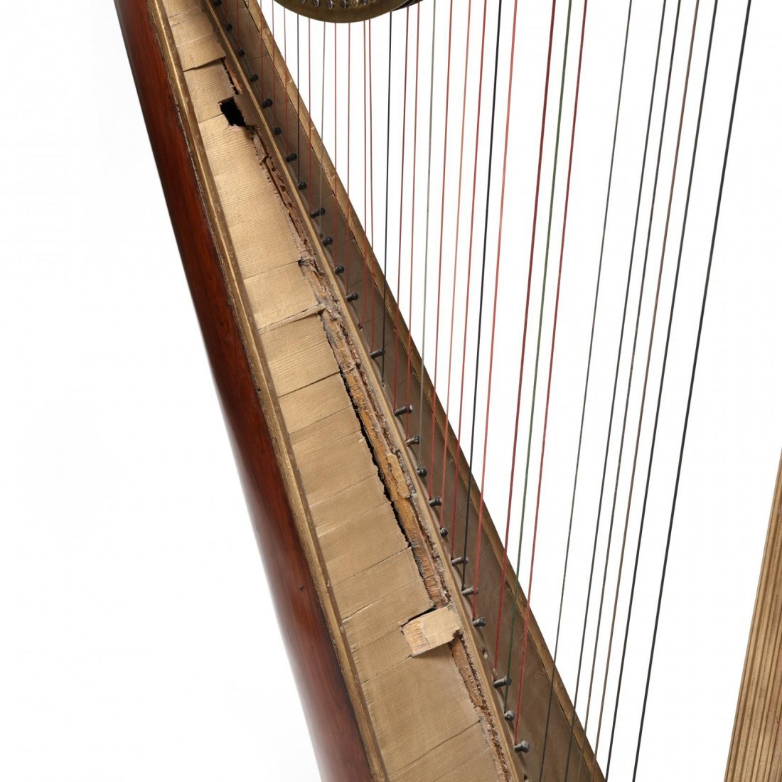 Regency Parcel Gilt Harp by Sebastian Erard - 5