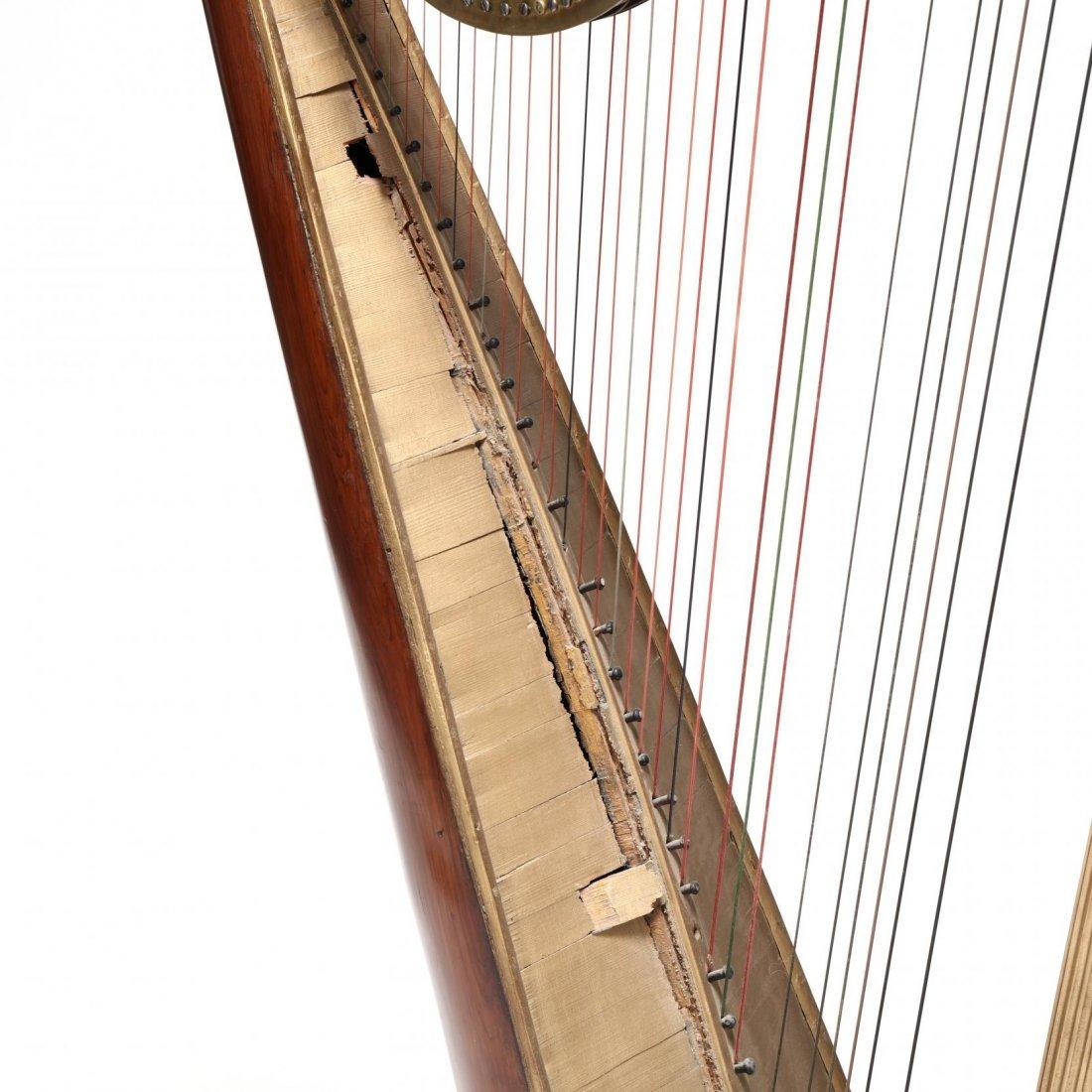 Regency Parcel Gilt Harp by Sebastian Erard - 6