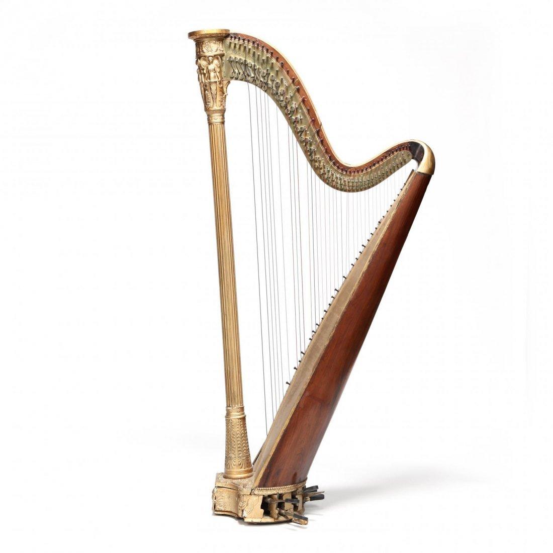 Regency Parcel Gilt Harp by Sebastian Erard - 9