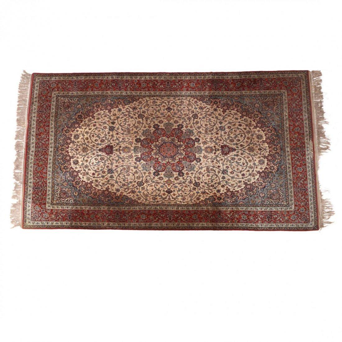 Persian Seirafian Isfahan Carpet, signed