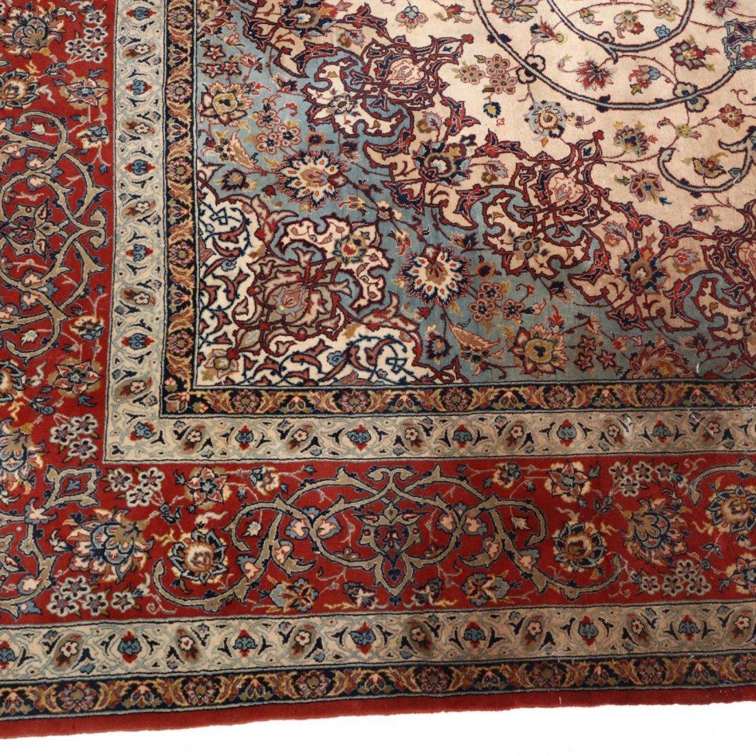 Persian Seirafian Isfahan Carpet, signed - 4
