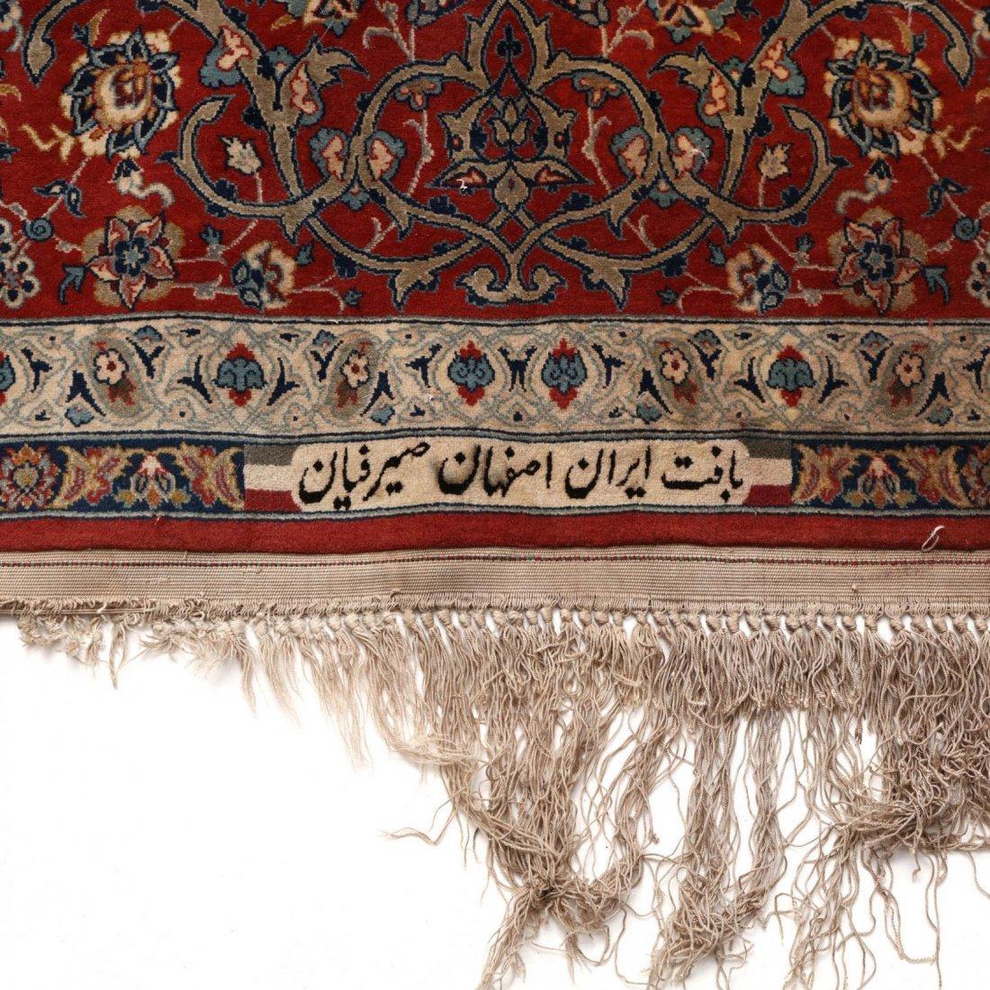 Persian Seirafian Isfahan Carpet, signed - 5