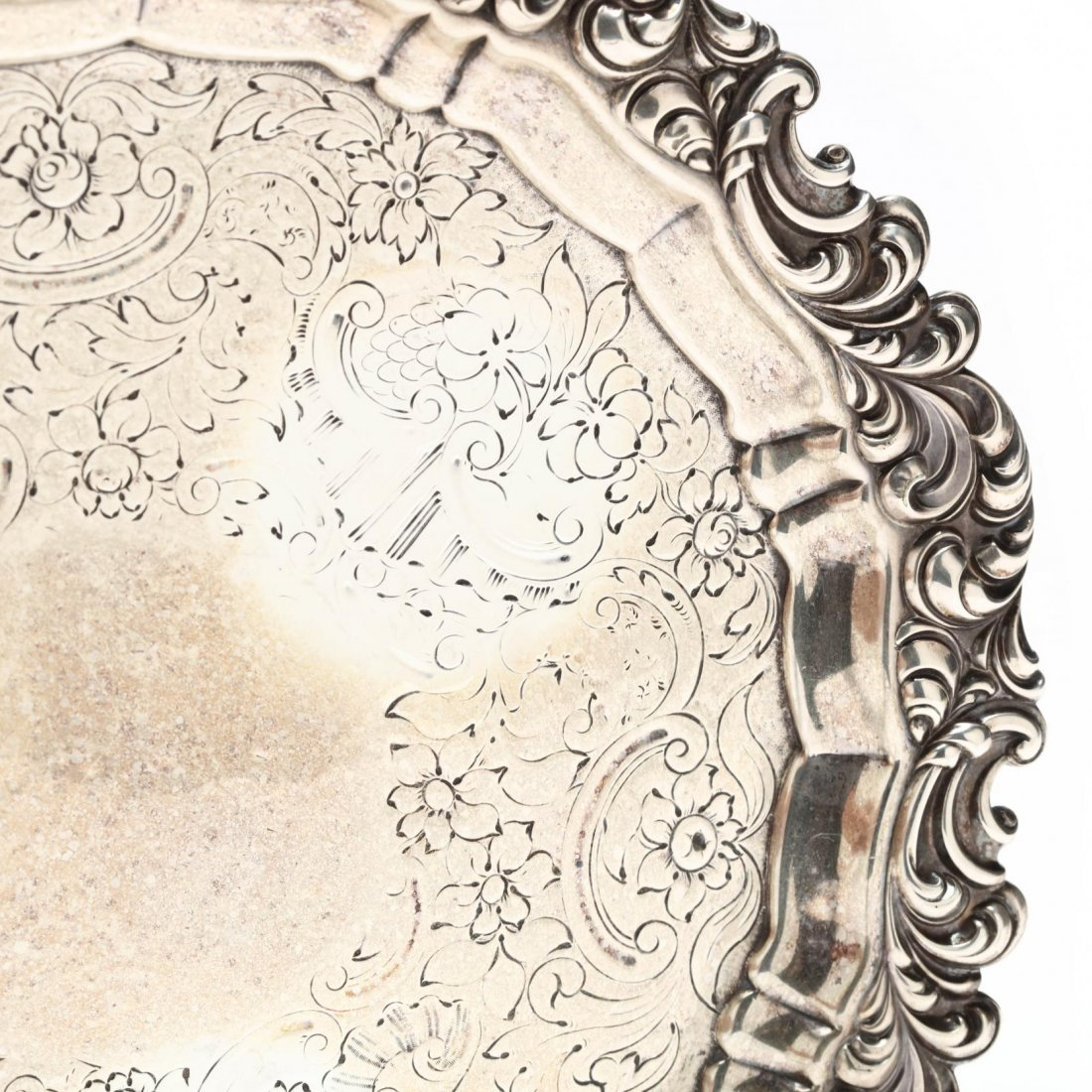 A George IV Silver Salver - 3